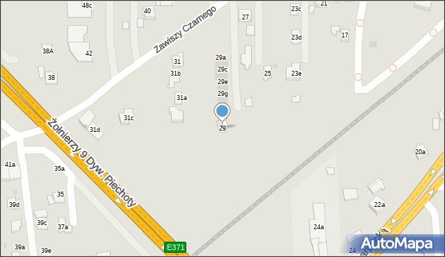 Rzeszów, Zawiszy Czarnego, 29, mapa Rzeszów