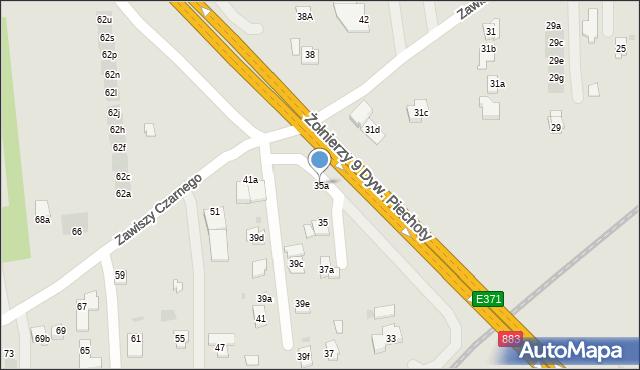 Rzeszów, Zawiszy Czarnego, 35a, mapa Rzeszów