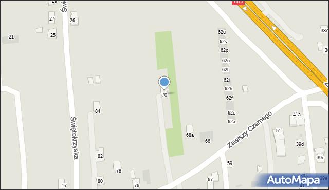 Rzeszów, Zawiszy Czarnego, 70, mapa Rzeszów
