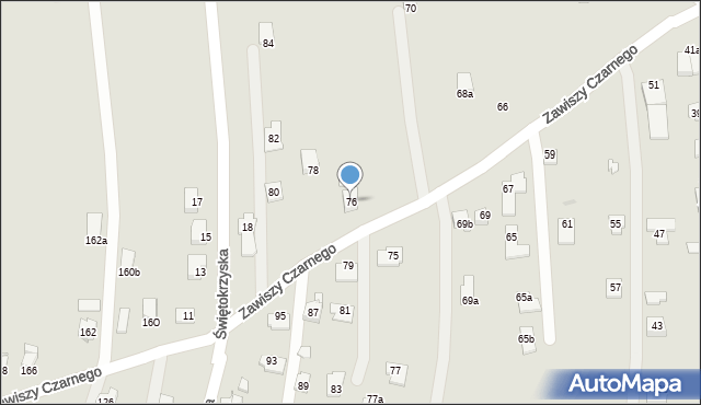 Rzeszów, Zawiszy Czarnego, 76, mapa Rzeszów