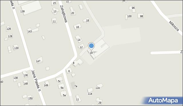 Rzeszów, Zakątkowa, 10, mapa Rzeszów