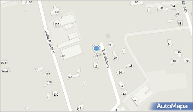 Rzeszów, Zakątkowa, 13, mapa Rzeszów