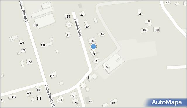 Rzeszów, Zakątkowa, 14, mapa Rzeszów