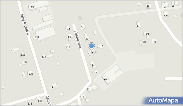 Rzeszów, Zakątkowa, 16, mapa Rzeszów
