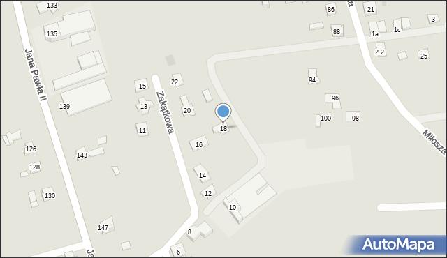 Rzeszów, Zakątkowa, 18, mapa Rzeszów