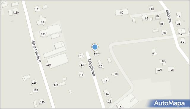 Rzeszów, Zakątkowa, 22, mapa Rzeszów