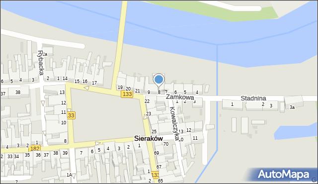 Sieraków, Zamkowa, 8, mapa Sieraków