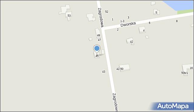 Toruń, Zagrodowa, 45, mapa Torunia