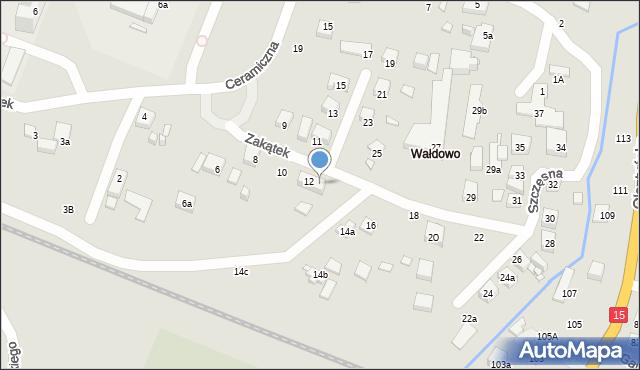 Toruń, Zakątek, 14, mapa Torunia