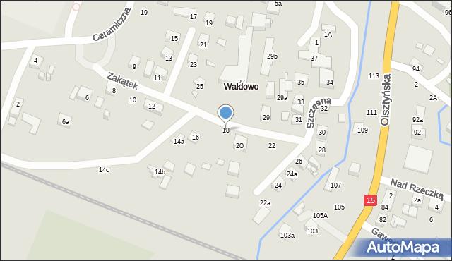 Toruń, Zakątek, 18, mapa Torunia