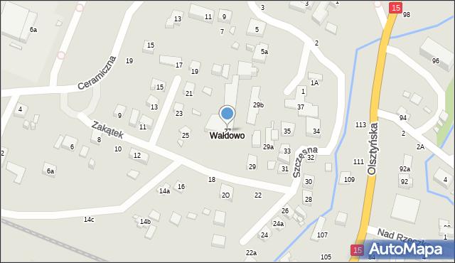 Toruń, Zakątek, 27, mapa Torunia