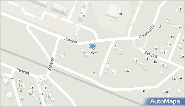 Toruń, Zakątek, 3a, mapa Torunia
