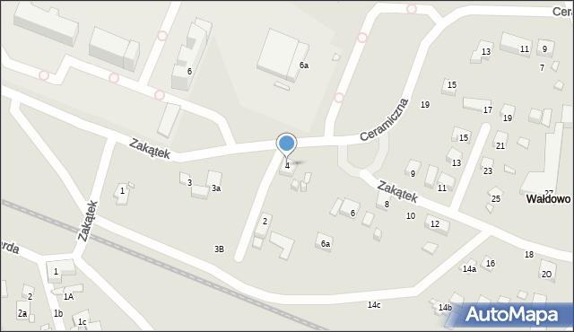 Toruń, Zakątek, 4, mapa Torunia