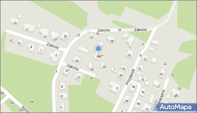 Toruń, Zakosy, 18a, mapa Torunia