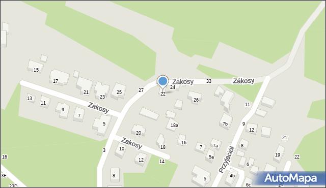 Toruń, Zakosy, 22, mapa Torunia