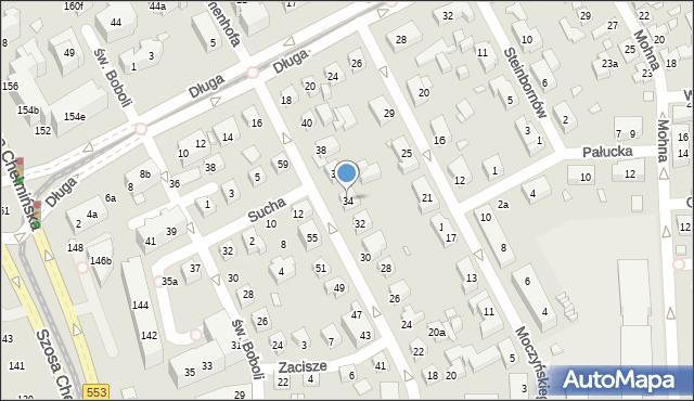 Toruń, Zamenhofa Ludwika, dr., 34, mapa Torunia