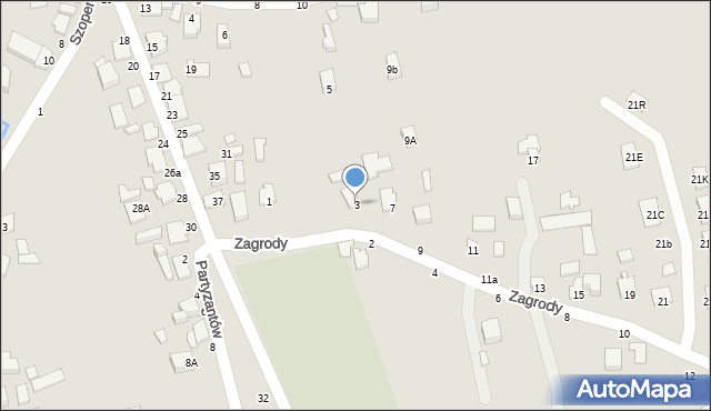 Tyczyn, Zagrody, 3, mapa Tyczyn
