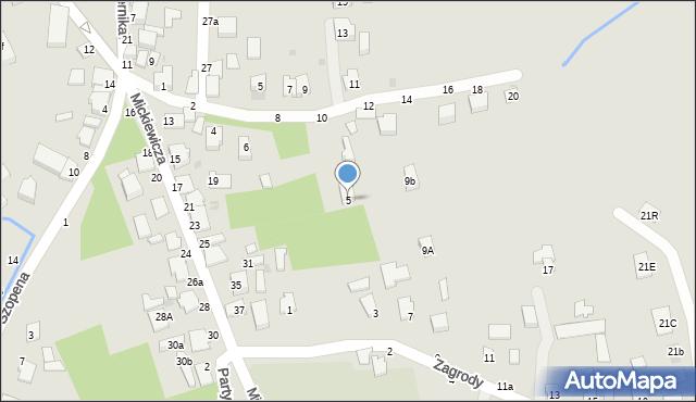 Tyczyn, Zagrody, 5, mapa Tyczyn