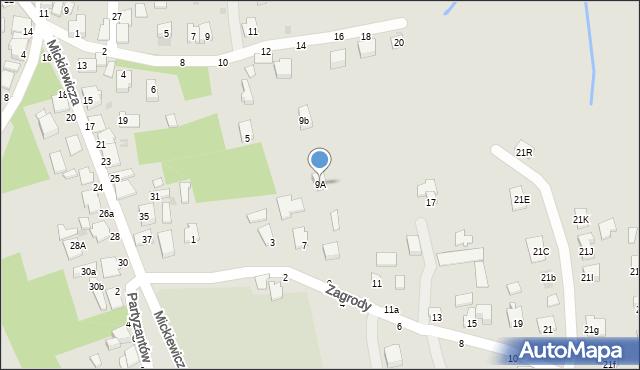 Tyczyn, Zagrody, 9A, mapa Tyczyn