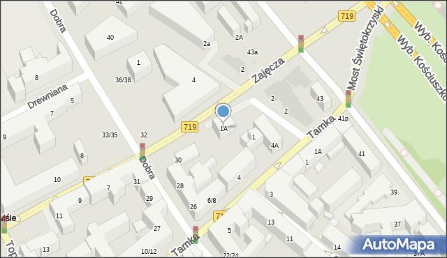 Warszawa, Zajęcza, 1A, mapa Warszawy