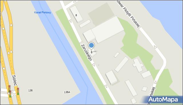Warszawa, Zaruskiego Mariusza, gen., 6, mapa Warszawy