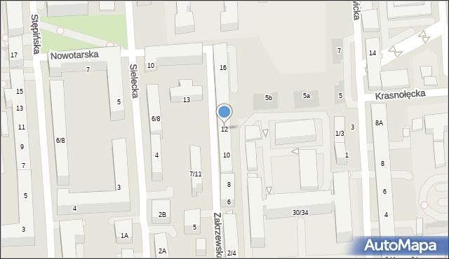 Warszawa, Zakrzewska, 12, mapa Warszawy