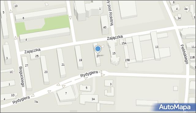 Warszawa, Zajączka Józefa, gen., 17, mapa Warszawy