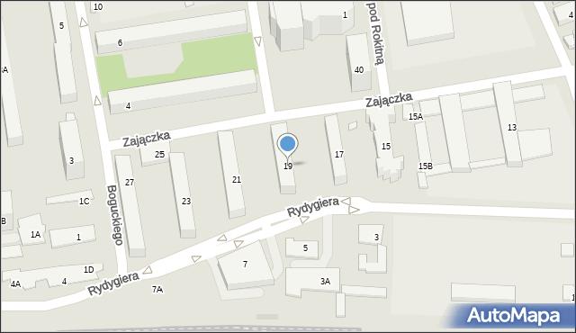 Warszawa, Zajączka Józefa, gen., 19, mapa Warszawy