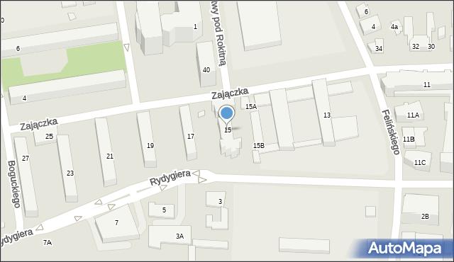 Warszawa, Zajączka Józefa, gen., 15, mapa Warszawy