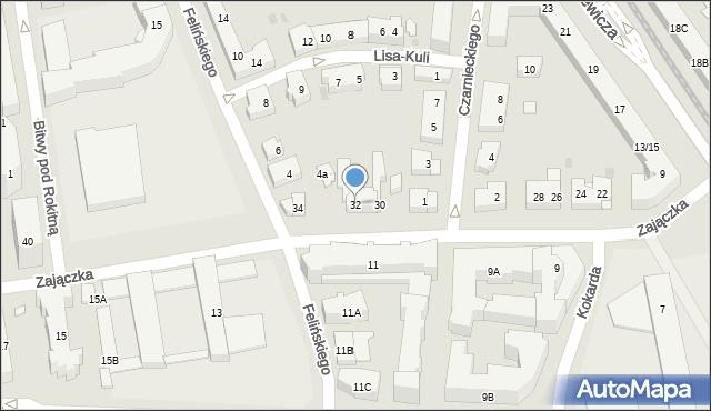 Warszawa, Zajączka Józefa, gen., 32, mapa Warszawy