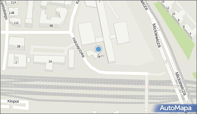 Warszawa, Zajączka Józefa, gen., 7A, mapa Warszawy