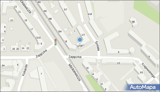 Warszawa, Zajączka Józefa, gen., 12/16, mapa Warszawy