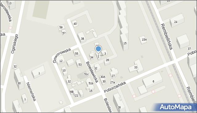 Warszawa, Zagraniczna, 1, mapa Warszawy