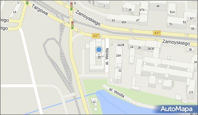 Warszawa, Zamoyskiego Jana, hetm., 20, mapa Warszawy