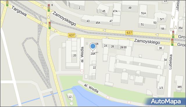 Warszawa, Zamoyskiego Jana, hetm., 24A, mapa Warszawy
