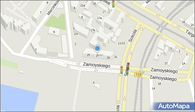 Warszawa, Zamoyskiego Jana, hetm., 27, mapa Warszawy