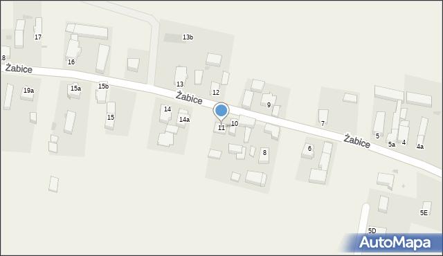 Żabice, Żabice, 11, mapa Żabice