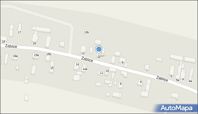 Żabice, Żabice, 12, mapa Żabice