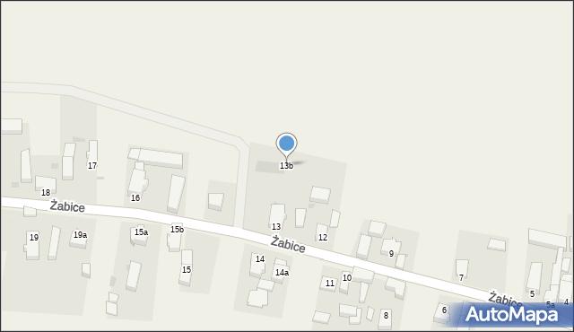 Żabice, Żabice, 13b, mapa Żabice