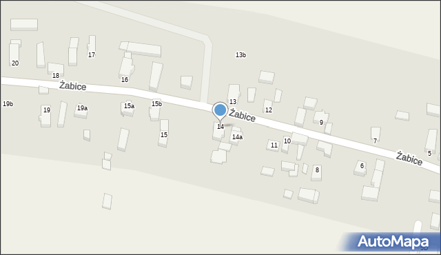 Żabice, Żabice, 14, mapa Żabice