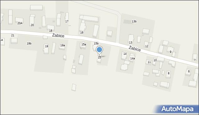 Żabice, Żabice, 15, mapa Żabice