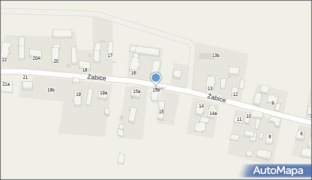 Żabice, Żabice, 15b, mapa Żabice