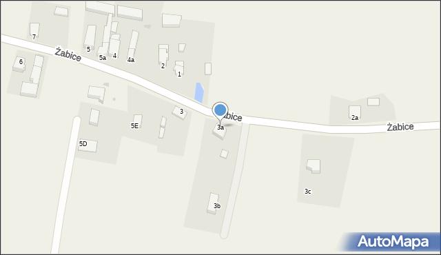 Żabice, Żabice, 3a, mapa Żabice