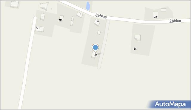 Żabice, Żabice, 3b, mapa Żabice