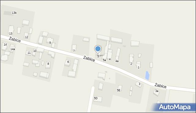 Żabice, Żabice, 5, mapa Żabice