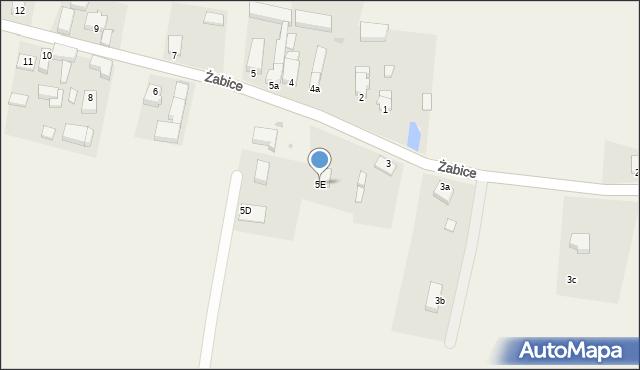 Żabice, Żabice, 5E, mapa Żabice