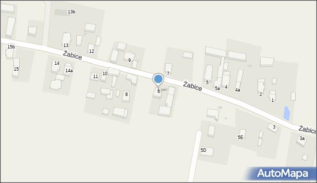 Żabice, Żabice, 6, mapa Żabice