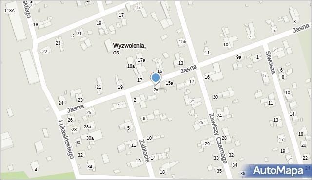 Zabrze, Zabłocie, 2a, mapa Zabrza