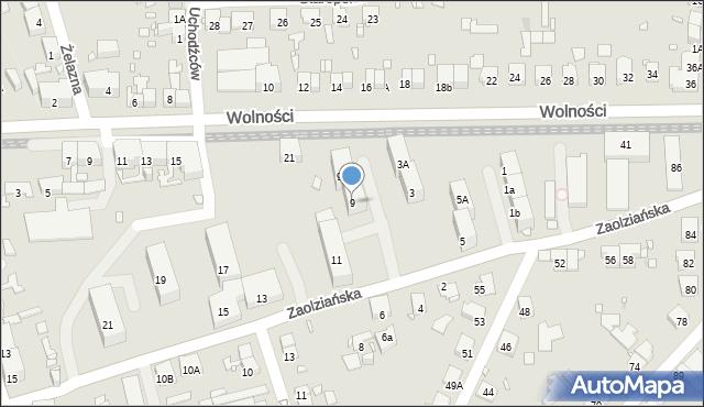 Zabrze, Zaolziańska, 9, mapa Zabrza