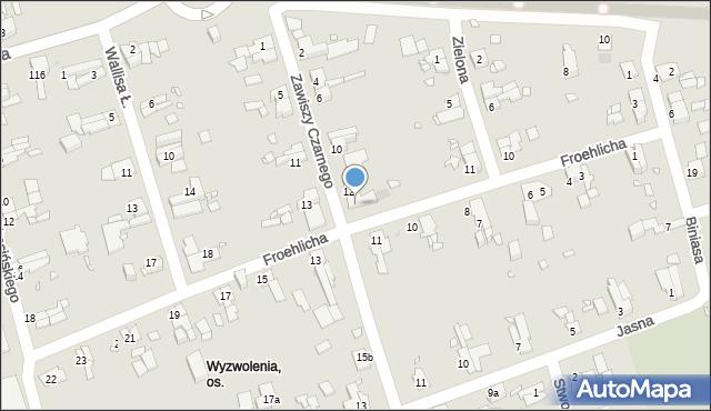 Zabrze, Zawiszy Czarnego, 14, mapa Zabrza